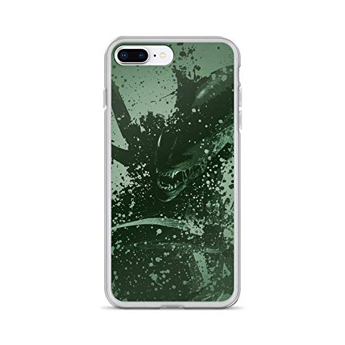 iPhone 7 Plus/8 Plus Case Anti-Scratch Motion Picture Transparent Cases Cover Alien Warrior Alternative Version Large †Green Movies Video Film Crystal Clear
