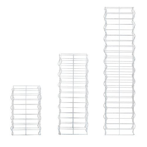 [pro.tec] Säulen Gabionen 3er Set Grundriss rechteckig 25cm 115 75 45 cm hoch Steingabionen Spalier