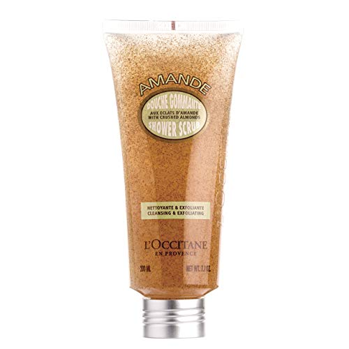 L'Occitane Exfoliating & Cleansing Almond Shower Scrub Enriched with Almond Oil, 7 oz