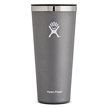 Hydro Flask 32 oz Double Wall Vacuum Insulated Stainless Steel Travel Tumbler Cup with BPA Free Press-In Lid, Graphite