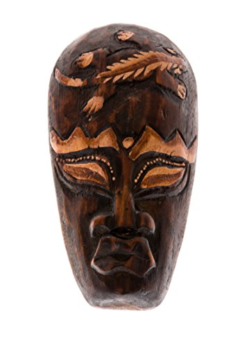 Ciffre 20cm Holz Maske Holzmaske Wandbehang Skulptur Figur Fair Trade Gecko HM2000016