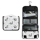 Alarge - Bolsa de aseo colgante con diseño de cisne de animales, bolsa de gárgaras grande portátil de viaje, neceser organizador de maquillaje para mujeres y hombres