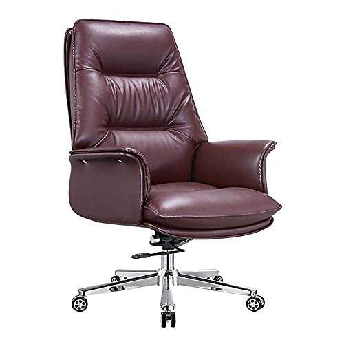 N&O Renovierungshaus Stühle Schreibtischstühle Executive Komfortables Büro Multifunktions Ergonomischer Computer Hohe Rückenlehne Riemenscheibe Schwenkbar