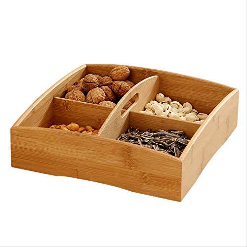 Hot verkoop hout voedsel opslag doos Snack schotel draagbare snoep moer container lade decoratie granen plaat partij Snack snoep