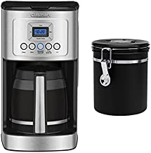 Cuisinart DCC-3200 PerfecTemp 14-Cup Programmable Coffeemaker Includes Coffee Bean Canister (2 Items)