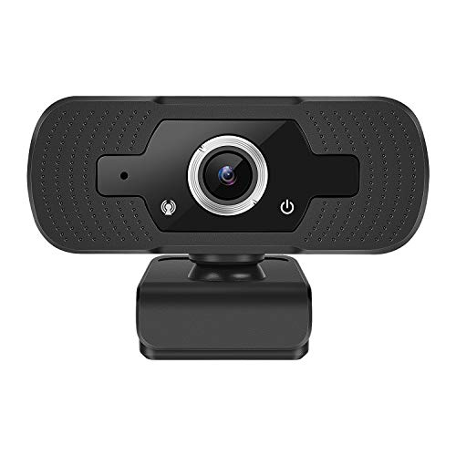 Webcam with Microphone, Full HD 1080P Live Webcam Streaming Video Camera for Computers PC Laptop Desktop, Dual Built-in Microphones, Video Calling, Conference, Online Video Learning (Black)