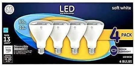 GE LED 65W BR30 Soft White Flood Light (4-pk.)