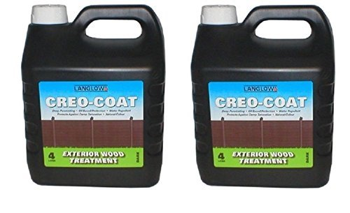 Scotvision 2 x Creocote Dark Brown Oil Based Timber Shed Fence Treatment 4 Litre Creosote