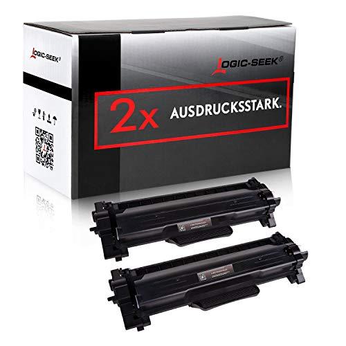 2 Toner XL von Logic-Seek ersetzt Brother TN2420 TN2410 Doppelpack 2X 3.000 Seiten für Brother HL-L2350DW HL-L2370DN HL-L2375DW HL-L2310D MFC-L2710DW