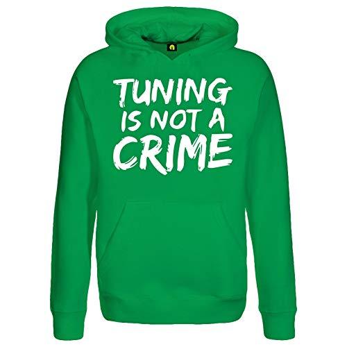 Tuning is Not A Crime Kapuzenpullover | Motorrad | Auto | Scooter Roller | Quad Grün L