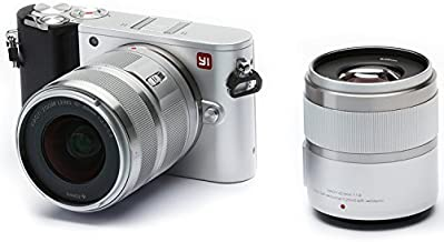 YI 4K 20MP Mirrorless Digital Camera with LCD Touchscreen, Wi-Fi, Bluetooth, Interchangeable Lens 12-40mm F3.5-5.6 Lens & 42.5mm F1.8 - Silver