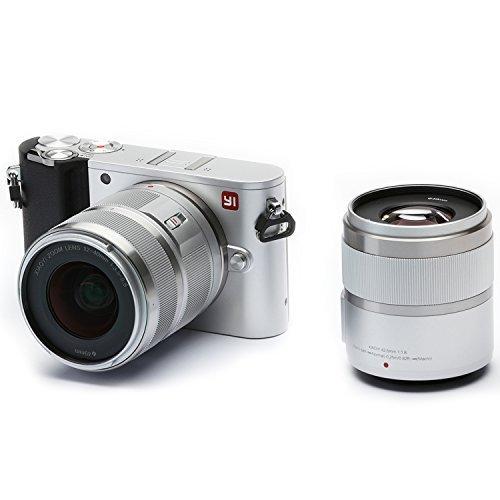 'Yi M14K vídeo 20MP Mirrorless cámara Digital con 12–40mm F3.5–5.6lente/42.5mm f1.8Lente Hielo Plata