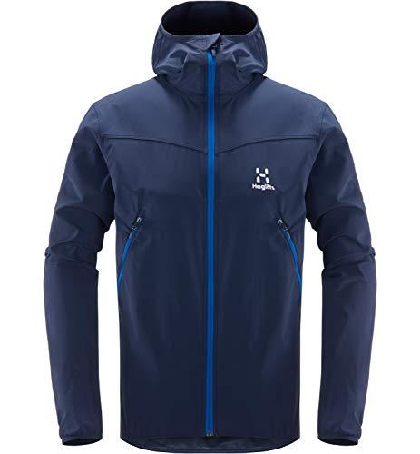 Haglöfs Softshelljacke Herren Softshelljacke Natrix Hood wasserabweisend, windabweisend, elastisch Tarn Blue/Storm Blue XL XL - Empty for carryovers -