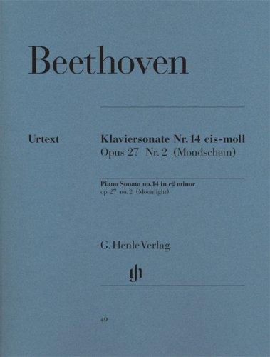Sonate Nr. 14 cis-moll op. 27/2 (Mondscheinsonate). Klavier