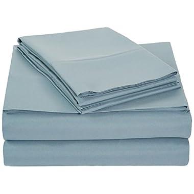 AmazonBasics Microfiber Sheet Set - Full, Spa Blue