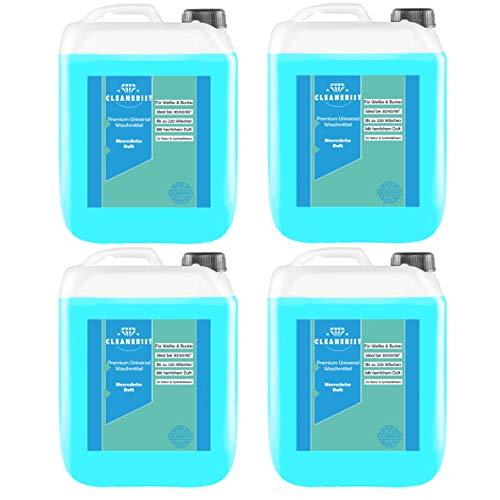 Cleanerist Flüssigwaschmittel Premium Waschmittel mit Meeresbrise-Duft | 4x5 Liter Vollwaschmittel Grosspackung | bis zu 440 Waschladungen color weiß schwarz