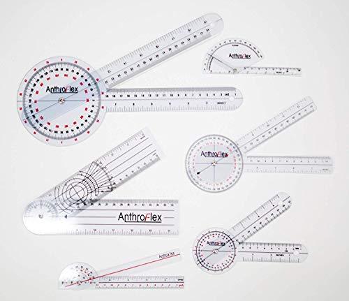AnthroFlex Set de 6 Goniómetro Goniometro Plastico