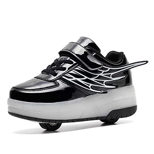 Rollschuhe Schuhe mit Rollen Mädchen, Outdoor Skates für Kinder/Damen/Unisex, 2 in 1 Outdoor-Verformungsschuhe Für Geburtstags