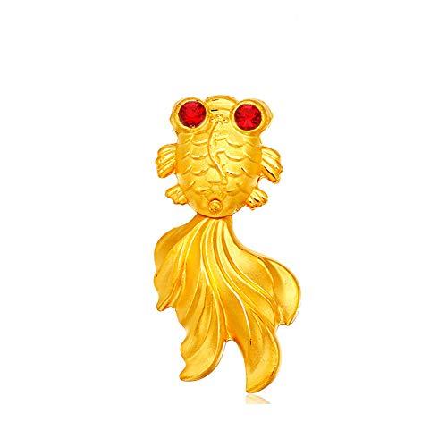 DXMPZB Mujer Colgante Oro Amarillo De 24 Quilates Pez De Colores Colga