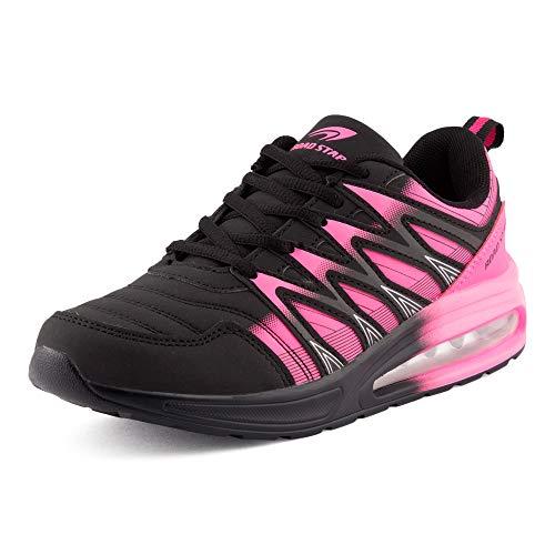 Fusskleidung Herren Damen Sportschuhe Sneaker Dämpfung Laufschuhe Übergröße Neon Jogging Gym Unisex Schwarz Pink EU 38