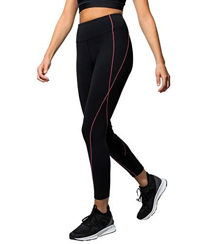 Kasheer ActiveLeggings | Sport-Leggings für Damen mit 4-Wege-Stretch | Fitness-Hose für Yoga, Gym, Laufen und Pilates | Schwarz (44/46)