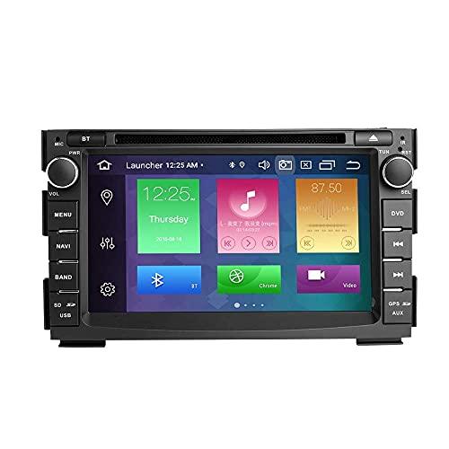 W-bgzsj para Kia Ceed Venga 2010-2012 Android 10 IPS Pantalla Doble DIN in Dash Car Radio Audio Audio Estéreo GPS Navigation Car 7 Pulgadas Touch Pantalla Táctil Multimedia Player DSP