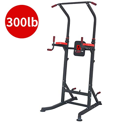 Power Tower Multifunctional 6 Sections Adjustable Height Dip Pull Up Station for Home Gym Strength Training Power Tower Fitness Equipment Weighted 300 Pounds