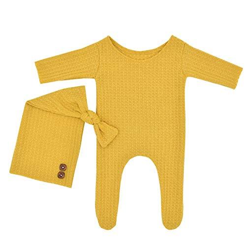Disfraces de fotografía recién nacida, accesorios para fotos de bebé, niños y niñas, amarillo, M