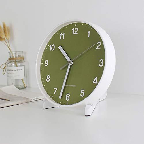 SHUTING2020 Reloj de Mesa Reloj de Pared de Barrido sin tictac Diámetro de 20 cm (números árabes) Reloj de decoración de interiors (Color : D)