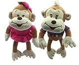 LOYFER Pack de 2 Peluche para Bebe de 30cm Cada uno (Multicolor) monita mariola y Mono Mario