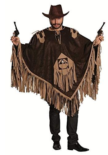 Luxus Poncho Herren Kostüm Cowboy Gaucho Wilder Westen
