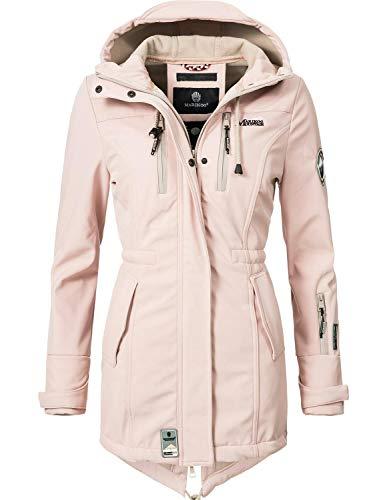 Marikoo Damen Softshell-Jacke Outdoorjacke Zimtzicke Rosa Gr. L