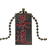Jiu Jitsu Judo Per Gioielli Unisex Color Bronzo Dichiarazione Di Moda Collana Pendenti Con Collane In Vetro