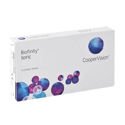 Biofinity Toric, torische Monatslinsen weich, 3 Stück / BC 8.70 mm / DIA 14.5 / CYL -0.75 / ACHSE 180 / -1.00 Dioptrien