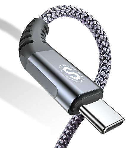 USB C Kabel 3.1A [2Stück 3m] Schnellladung, Ladekabel USB C Nylon Type C Kabel für Samsung Galaxy S21 S20 S10 S9 S8 Plus,Note10/9/8,M31 M30s M20,A20e A71 A52 A51 A50 A40 A10 A7,Mi9/8,V30/20