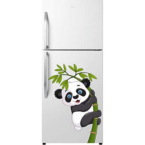 Decorvilla Pegatina de pared con diseño de panda con árbol (vinilo de PVC, 76 x 58 cm), multicolor