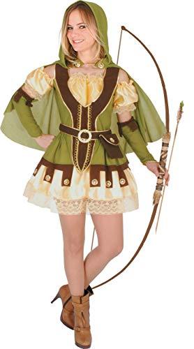 Ciao Robin Lady costume donna (Taglia unica adulto), Verde/Marrone, Ragazza