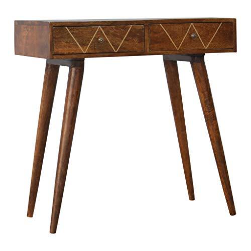 Roseland Furniture Ltd Artisan - Mesa Consola con 2 cajones (latón)