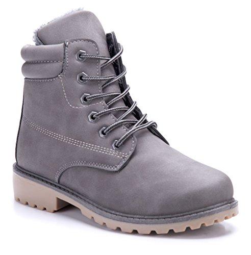 Schuhtempel24 Boots grau
