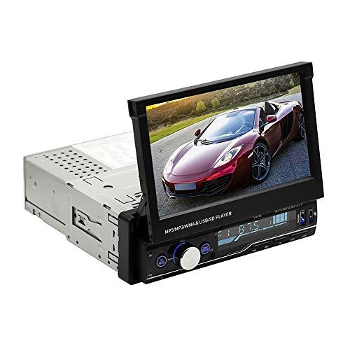 Garsent 2DIN autoradio met scherm uitschuifbaar, 7 inch auto multimedia MP5-speler ondersteunt USB/AUX/TF, Bluetooth handsfree installatie, afstandsbediening op het stuur