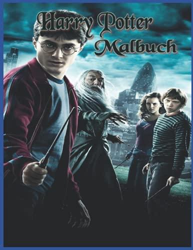 Harry Potter Malbuch: für Kinder und Teenager
