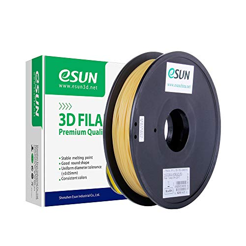 eSUN Water Soluble PVA Filament 1.75mm, PVA 3D Printer Filament, Dimensional Accuracy +/- 0.05mm, 0.5KG (1.1 LBS) Spool 3D Printing Filament Support Material for 3D Printers, Natural