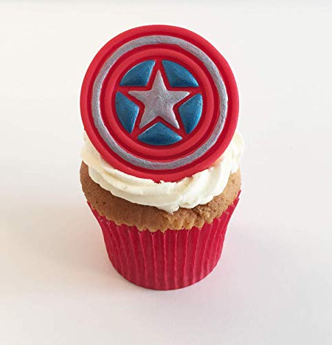 1 Sugar Marvel Captain America 6cm x 6cm Cake Topper- Edible, unique & made with love & imagination in the UK!