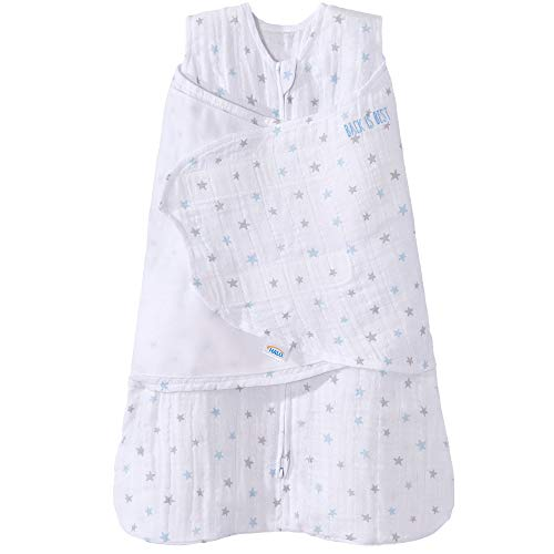 Halo 100% Cotton Muslin Sleepsack Swaddle Wearable Blanket,...