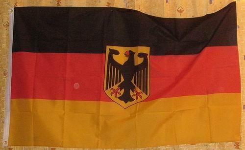 Allemagne Drapeau Service avec aigle drapeau Grand format aux intempéries 250 x 150 cm