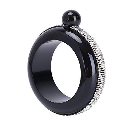 Jug Bracelet Petaca portátil redondo para bebidas alcohólicas pulsera joyería botella de alcohol regalo 3.5 oz para mujer