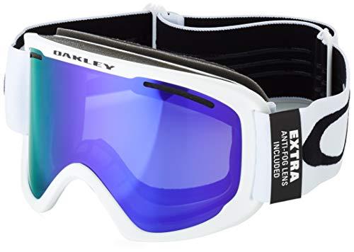 Oakley Frame 2.0 XL Ski Goggles, Unisexe Adulte, Matte White/Violet Iridium/Persimmon