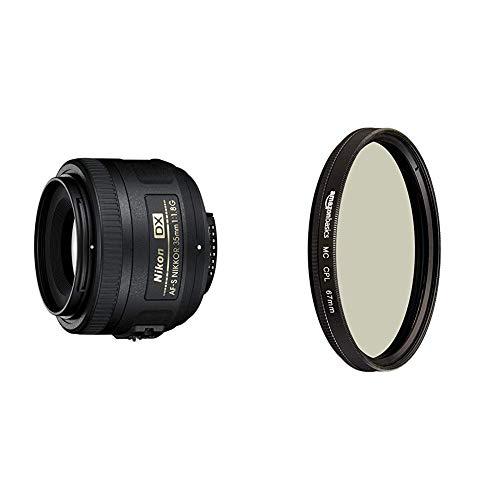 Nikon AF-S DX Nikkor 35mm 1:1,8G Objektiv (52mm Filtergewinde) & Amazon Basics Zirkularer Polarisationsfilter - 67mm