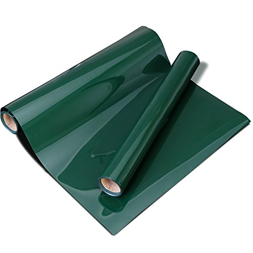 "HTV 10""x5FT Heat Transfer Vinyl Roll Dark Green for for T Shirts Garments Bags and Other Fabrics"