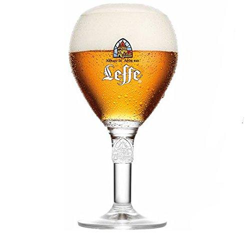 Leffe Bicchiere da Birra 33cl Birra Belga Forma Perfetta per Bere La Birra